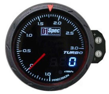 Zegar D1Spec 60mm - Turbo Electric 1-3 BAR - GRUBYGARAGE - Sklep Tuningowy